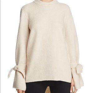 J.O.A tie sleeve sweater